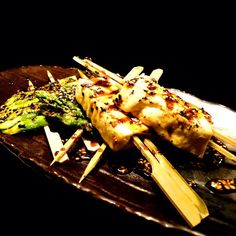 On #MeatlessMonday? Try Grilled Tofu & Asparagus Skewers!  Char-grilled & served with a drizzle of Teriyaki sauce, it's yummy & healthy! (^_−)☆