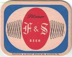 F&S  Beer and Ale Coaster Beer Coasters, Brewing Company, Schmidt, Ale, Ale Beer, Ales, Beer