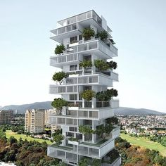 20 Beautiful Examples Of Residential Architecture. Residential Tower in Mexico City, Mexico – Meir Lobaton andKristjan Donaldson Green Architecture, Futuristic Architecture, Sustainable Architecture, Amazing Architecture, Architecture Design, Chinese Architecture, Residential Building Design, Residential Complex, Residential Architecture