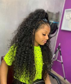 Hair factory 🏭 Accept retail and wholesale Offer drop shipping frontal front wig closure Baddie Hairstyles, Black Girls Hairstyles, Ponytail Hairstyles, Weave Hairstyles, Cute Hairstyles, Hairstyle Ideas, Natural Hair Tips, Natural Hair Styles, Wig Styles