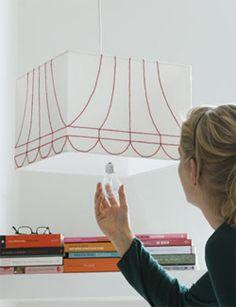 DIY Lamp-shade embroidery