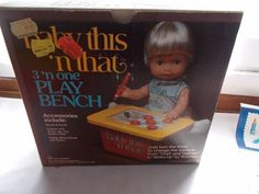 MIB Vintage Remco Baby This N That 3 N One Play Bench 1978 #Remco