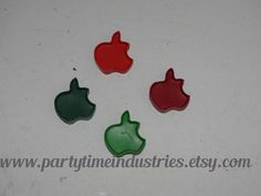 Apple Shaped Crayons by PartyTimeIndustries on Etsy