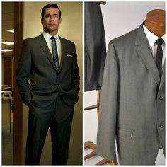 Don Draper {1960s Gray Sharkskin Suit}