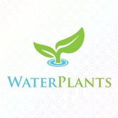 Exclusive Customizable Water Plant Logo For Sale | Water Plants logo