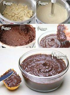 Homemade Breakfast Chocolate Recipe How To Make - Nutella 2019 Vegan Chocolate, Chocolate Desserts, Köstliche Desserts, Dessert Recipes, Oreo Cheesecake Bites, Vegan Peanut Butter Cookies, Homemade Breakfast, Food Places, Pastry Cake