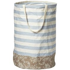 Container Store. Cabana Stripe Laundry Tote... says Seashore all over it.