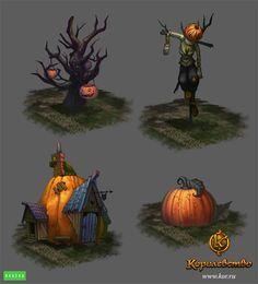 Halloween surroundings by Gimaldinov.deviantart.com on @deviantART
