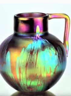 Loetz Medici . Marie Kirschner design, form 1090/20 circa 1900-01 Bohemia Glass, Vase, Design, Home Decor, Decoration Home, Room Decor, Vases, Home Interior Design