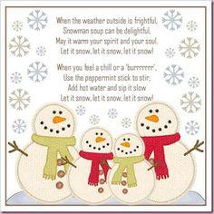 snowman soup poem/song - printable - bjl
