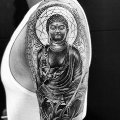 Buddha (in progress)  Thinking Tree Tattoo JKT