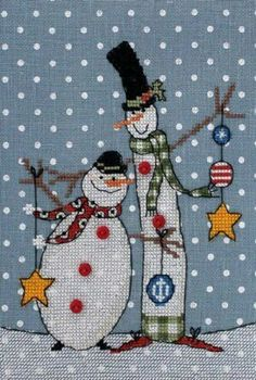 New Counted Modern Cross Stitch Kit by Russian Manufacture, Snowman Friends, Christmas Print, Russian Manufacture - Cross stitch embroidery - Snowman Cross Stitch Pattern, Cross Stitch Borders, Modern Cross Stitch, Cross Stitch Charts, Cross Stitch Designs, Cross Stitching, Cross Stitch Patterns, Primitive Embroidery, Embroidery Kits