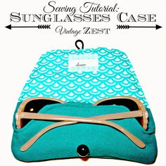 sunglass case *Update* The giveaway is over, but the pattern is still free! Remember my post from about a month ago about the soft sunglasses cases I sewed for myself and as a couple of gifts Easy Sewing Projects, Sewing Hacks, Sewing Tutorials, Sewing Crafts, Bag Patterns To Sew, Sewing Patterns Free, Free Sewing, Diy Sac, Sewing Accessories