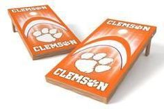 Clemson Tigers Single Cornhole Board - Arch