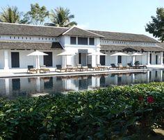 Sofitel Luang Prabang (formerly Hôtel de la Paix) Luang Prabang, Laos, Oriental Decor, High Walls, Boutique, Colonial, Swimming Pools, Cabin, Mansions