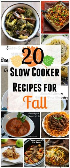 20 slow cooker recipes for fall