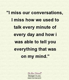 I miss all that and more