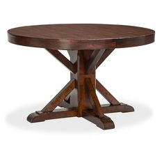 """Benchwright Extending Pedestal Dining Table 
