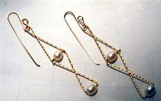 Figure Eight Pearl Earrings: Jewelry Making Supplies | Wire Jewelry | Wire Wrap