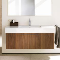 Shop for Duravit Fogo Vanity Unit Wall-Mounted American Walnut. Get free delivery On EVERYTHING* Overstock - Your Online Furniture Outlet Store! Get in rewards with Club O! Bathroom Vanity Units, Single Bathroom Vanity, Bathroom Furniture, Modern Bathroom, Single Vanities, Bathroom Ideas, Master Bathroom, Master Master, Boho Bathroom
