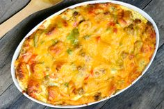 Christmas Breakfast Casserole:   1 pound ground sausage, 1/2 diced green pepper, 1/2 diced red pepper, 3 diced spring onions, 8 eggs, 1 1/2 cups milk, salt and pepper to taste, 1 teaspoon dried Italian blend herbs or 1 teaspoon each: fresh chopped basil, oregano and rosemary (optional), 1 day old french baguette, chopped in cubes, 1 – 8 oz package shredded mild cheddar cheese