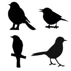 stencil of a bird | Bird Stencils | Art: Patterns and Templates