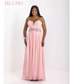 plus size bridesmaid dresses blush | blush plus size 2014 prom dresses crystal pink strapless chiffon plus ...