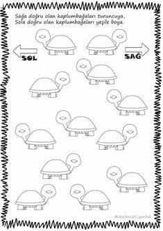 Sağ sol Preschool Kindergarten, Preschool Worksheets, Coloring Sheets For Kids, Color By Numbers, My Little Baby, English Lessons, Pre School, Fun Learning, Preschool Activities