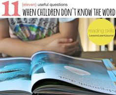 11 useful questions to help build reading skills for those unknown words.