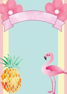 57 Ideas party invitations diy pool for 2019 Pink Flamingo Party, Flamingo Birthday, Pool Party Birthday Invitations, Diy Invitations, Thema Hawaii, Karneval Diy, Invitation Background, Party Themes, Ideas Party