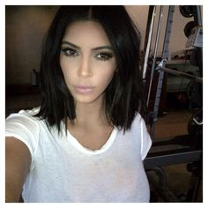 « I miss short hair » Kim Kardashian #sosexy More