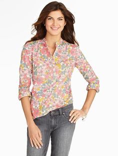 Talbots - Floral Medley Popover | Blouses and Shirts | Petites