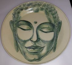 Buddha, clay and clay pensils, 2013