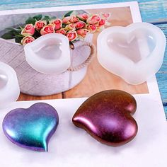 Heart Shaped Resin Mold Pendant Silicone Mould Epoxy Mold Jewelry Making Tools