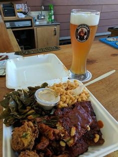 From Chef Angelica's recent trip to the Pacific Northwest.  Vegan BBQ & a pint