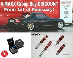 From today 1st of February, subscribe at ▶ wwwTopMiata.com/gb/ to get your set of V-MAXX Coilovers for the NA, NB and NC at an exceptional price (including XXTREME Coilovers).   TopMiata V-MAXX Coilovers Group Buy DISCOUNT: (USA /Canada  and Europe ).   Prices and conditions available at ▶ www.TopMiata.com/gb/ (any questions, feel free to ask sales@topmiata.com)