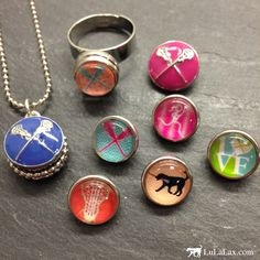 Choose your SportSNAPS charm design then decide what piece of jewelry you want to wear. We have Necklaces, Bracelets, Rings and Charms! With the ability to change the piece daily, this makes the perfect gift for a lacrosse girl on the go! Only at LuLaLax.com!