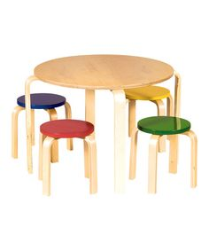 Look at this Nordic Table & Stool Set on #zulily today!