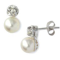pendientes perlas cultivadas-brillantes Stud Earrings, Pearls, Jewelry, Fashion, Pearl Studs, Jewelery, Bangle Bracelets, Accessories, Women