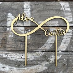 "Infinity Wedding Cake Topper | 8"" inches 