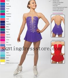 Purple Custom Size Brad Griffies for Women B-1705 - Ice Skating Dresses -SkatingDressStore.com