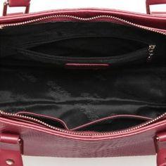 Skórzana torebka tote z krokodyla w kolorze burgundu