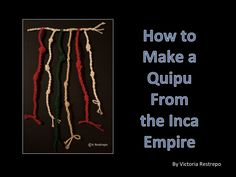 Quipus are books from the ancient Inca empire in Peru. But these books are so special, they are not made on paper, or leather, or parchment, they are not even carved on stone. These books are made of colorful yarn strings attached to a main cord, and instead of letters or numbers, they used knots! Lets learn how they were done.
