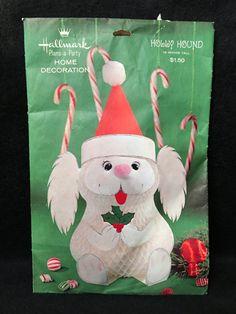 Vintage Holly Hound Christmas Hallmark by ReclaimedRummage on Etsy