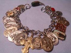 Catholic Medals Charm Bracelet