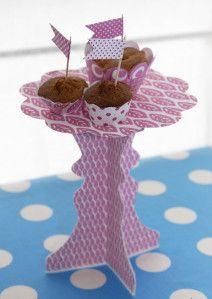 présentoir à cupcake à imprimer gratuitement