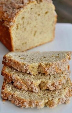 Cream Cheese Banana Bread with Sweet Cinnamon Topping