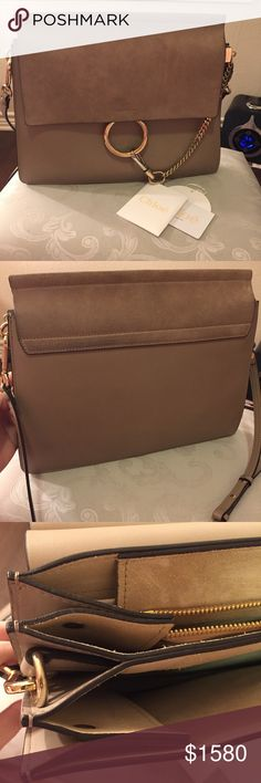 Chloe Faye Medium Bag Very good condition, gentle used. With identification card and tag inside. Chloe Bags Shoulder Bags