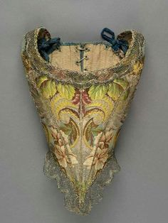Ladies gown bodice, 1735