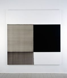 Exposed Painting Lamp Black (2006) - Callum Innes